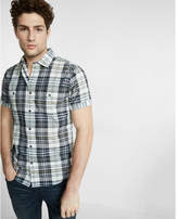 Express Plaid Short Sleeve Shirt