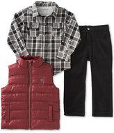 Calvin Klein Little Boys' 3-Pc. Vest, Woven Shirt, and Pants Set