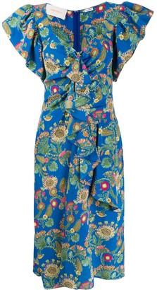 La DoubleJ Date Night thistle print dress