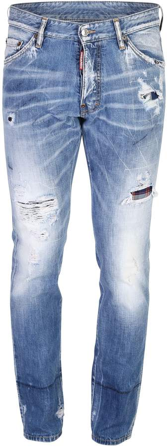 DSQUARED2 Blue Ripped Jeans