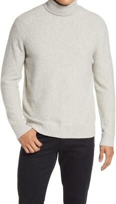 Club Monaco Boucle Cotton Blend Turtleneck Sweater