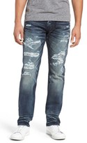PRPS Men's 'Demon' Repaired Slim Straight Leg Jeans