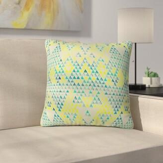 Carlton Triangle Marine Indoor/Outdoor Throw Pillow Latitude Run Size: Small
