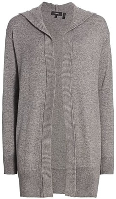 Theory Hooded Open-Front Cardigan