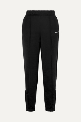Alexander Wang French Cotton-blend Terry Track Pants - Black