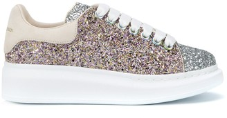 Alexander McQueen Oversized Metallic Glittered Sneakers