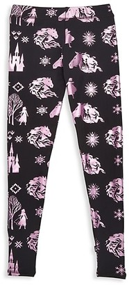 Terez Disney's Frozen 2 Little Girl's & Girl's Epic Adventure Foil Print Leggings