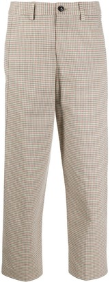 Closed High-Rise Cropped Trousers