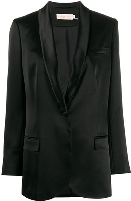 Tory Burch satin lapel blazer