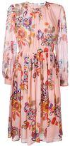 MSGM floral print midi dress