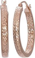 Tiara 14K Rose Gold Diamond-Cut Hoop Earrings
