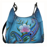 Anuschka Hand-Painted Leather Boho Bag
