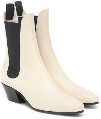 KHAITE Saratoga leather ankle boots
