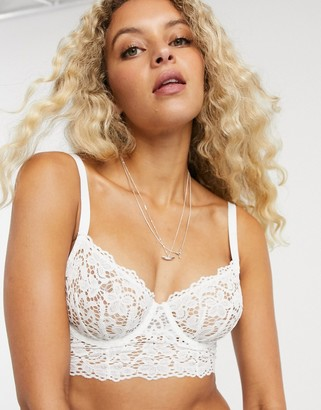 DKNY lace bra in white