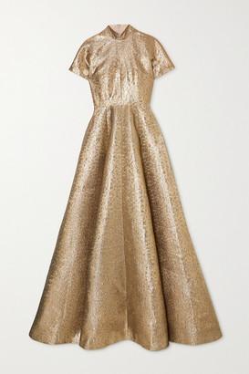 Emilia Wickstead Malinda Lame Gown - Gold