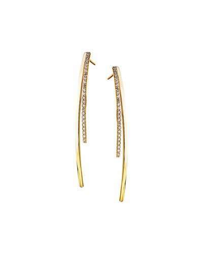 Lana Small Electric Diamond Bar Earrings