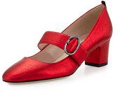 Sarah Jessica Parker Tartt Leather Mary Jane Pump, Poison Red