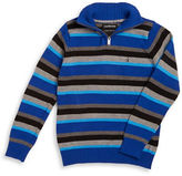 Calvin Klein Jeans Boys 8-20 Striped Half-Zip Sweater