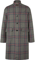 Valentino - Oversized Checked Wool-tweed Coat