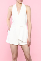 Do & Be White Halter Romper