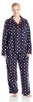 Nautica Sleepwear Women's Plus-Size Sueded Fleece Pajama Set