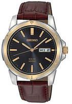 Seiko Men's Solar Strap Watch - Blue Dial
