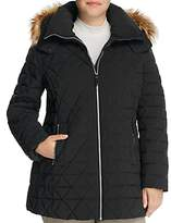 Marc New York Plus Tobi Faux Fur Trimmed Puffer Coat