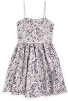 Un Deux Trois Girl's Printed Jacquard Party Dress