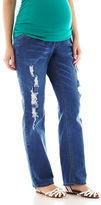 JCPenney Asstd National Brand Maternity Light Wash Boyfriend Jeans