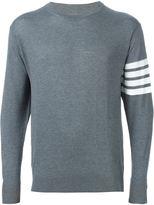 Thom Browne striped sleeve detail sweater - men - Wool - 0