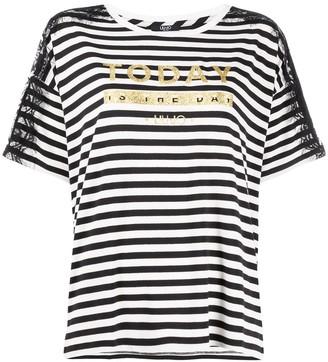 Liu Jo glitter slogan T-shirt