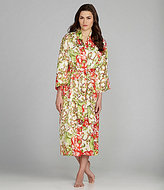Natori N by Jasmineae Printed Charmeuse Long Robe