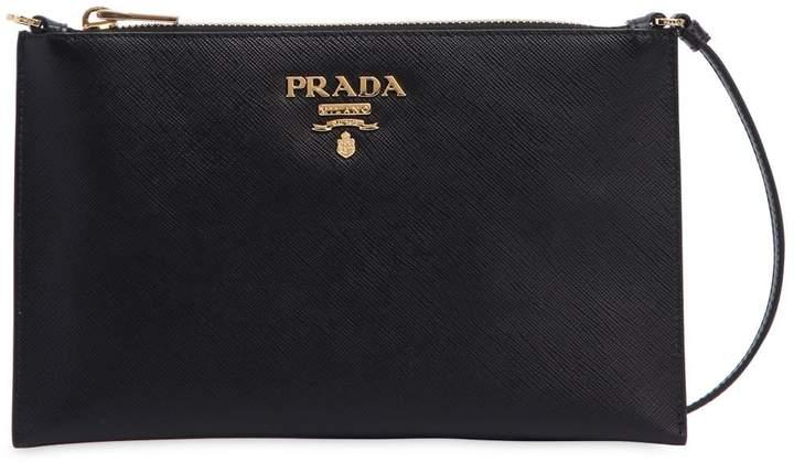 89725c6d6dfa Prada Saffiano Leather Shoulder Bag - ShopStyle
