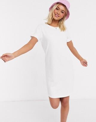 JDY sweat t-shirt dress in white