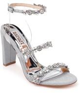 Badgley Mischka Adel Embellished Glitter Block Heel Pump