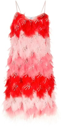 Emilio Pucci Feather Mid-Length Shift Dress