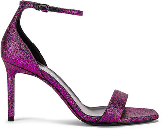 Saint Laurent Amber Ankle Strap Sandals in Fuchsia | FWRD
