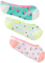 Osh Kosh 3-Pack Fruit No-Show Socks