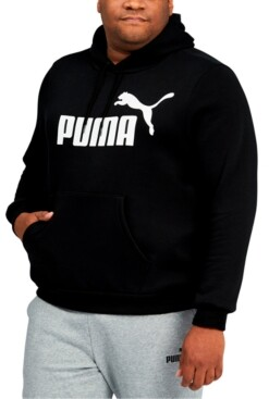 Puma Big & Tall Men's Fleece Logo Hoodie