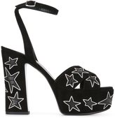 Saint Laurent 'Candy 80' sandals - women - Leather/Metal (Other)/Suede - 35