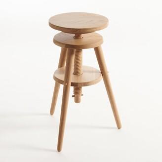Am.pm. EVOLUTIVA Wooden Adjustable Height Bar Stool