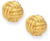 Kate Spade Earrings, 12k Gold-Plated Knot Stud Earrings