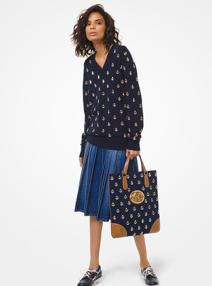 Michael Kors Anchor Embroidered Cashmere Sweater