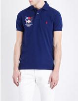 Polo Ralph Lauren Slim-fit branded cotton-piqué polo shirt