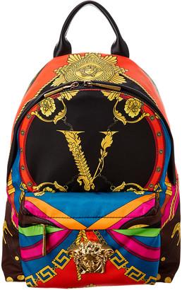 Versace Medusa Rodeo Print Detail Backpack