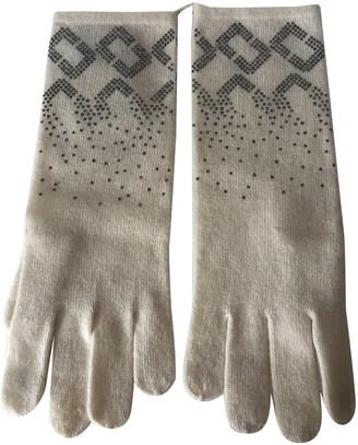 Diane von Furstenberg White Cashmere Gloves