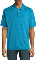 Haggar Short Sleeve Grid Knit Polo Shirt-Big and Tall