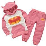 MITIAO Unisex Child Long Sleeve Cartoon Batman Hoodies Sweatshirts Set