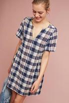 d.RA Textured Gingham Swing Dress