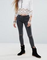 Free People Destroyed Skinny Jean